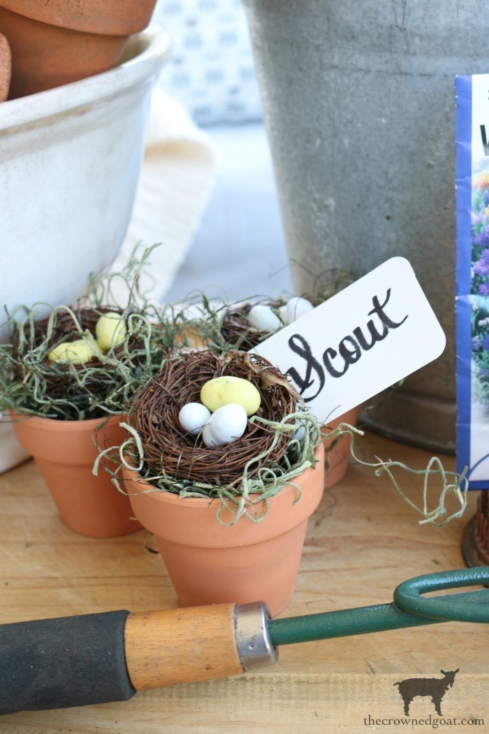 DIY-Birds-Nest-in-Clay-Pot-The-Crowned-Goat-11 DIY Bird's Nest Decorating DIY Holidays Spring