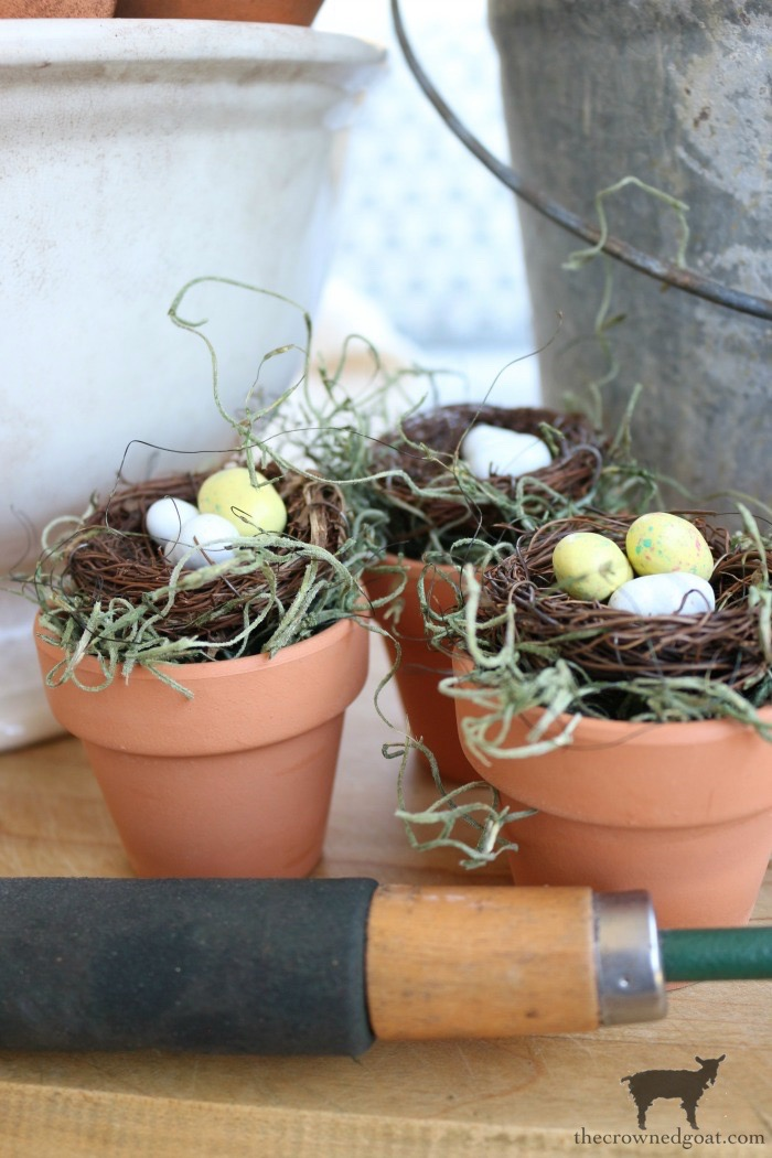 DIY-Birds-Nest-in-Clay-Pot-The-Crowned-Goat-12 DIY Bird's Nest Decorating DIY Holidays Spring