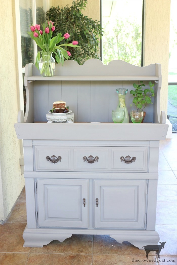 Dry-Sink-Drink-Station-Makeover-The-Crowned-Goat-15 Dry Sink Drink Station Makeover Decorating DIY Painted Furniture