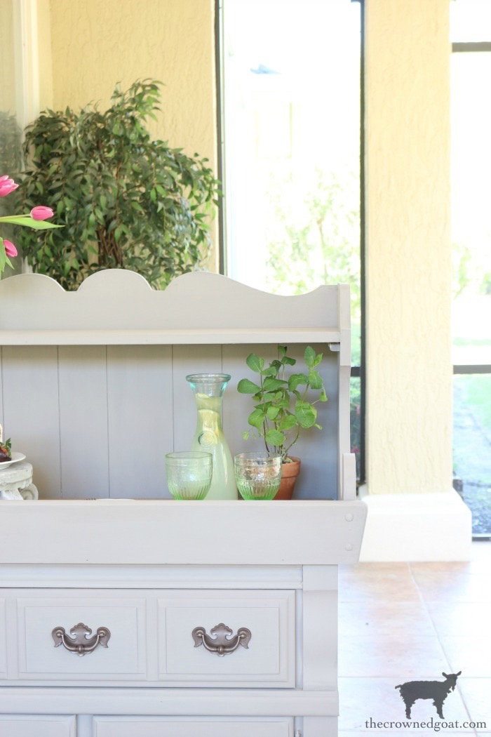 Dry-Sink-Drink-Station-Makeover-The-Crowned-Goat-16 Dry Sink Drink Station Makeover Decorating DIY Painted Furniture