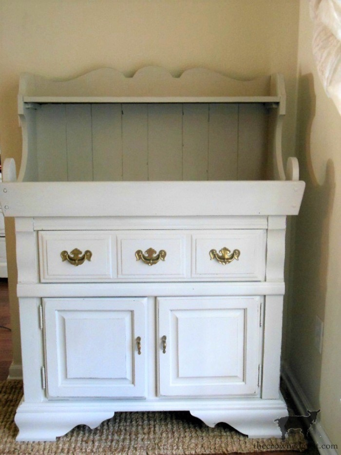 Dry-Sink-Drink-Station-Makeover-The-Crowned-Goat-2 Dry Sink Drink Station Makeover Decorating DIY Painted Furniture