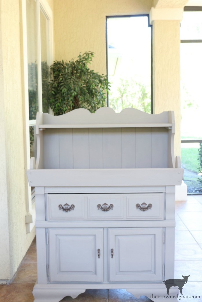 Dry-Sink-Drink-Station-Makeover-The-Crowned-Goat-9 Dry Sink Drink Station Makeover Decorating DIY Painted Furniture