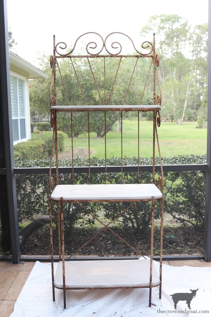 French-Farmhouse-Bakers-Rack-Makeover-The-Crowned-Goat-8 French Farmhouse Style Baker's Rack Makeover Decorating DIY Painted Furniture