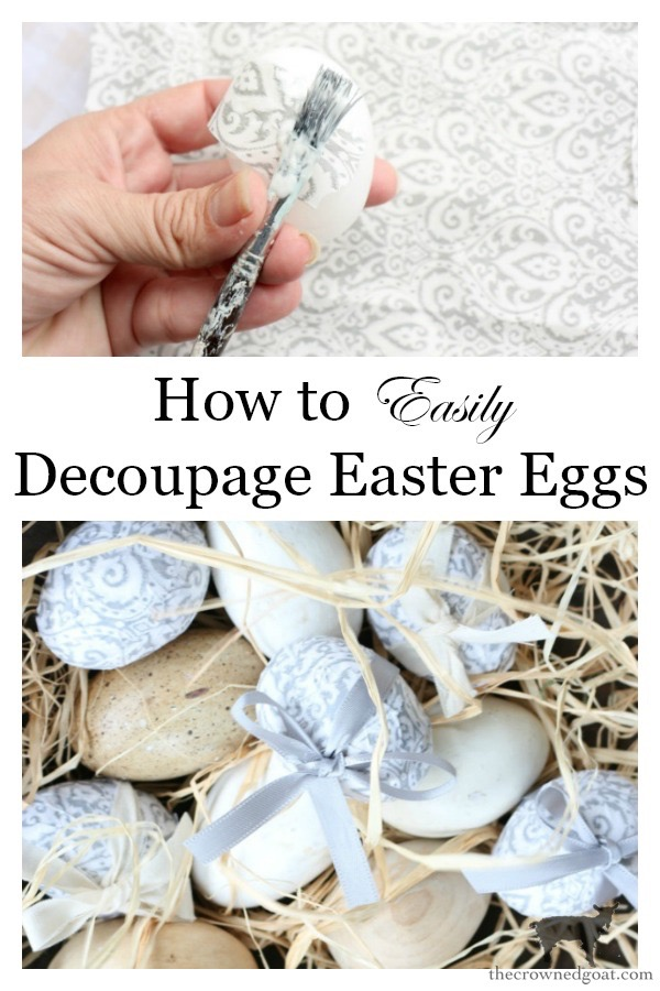 Decoupage-Easter-Eggs-The-Crowned-Goat-15 How to Decoupage Easter Eggs Decorating Holidays Spring