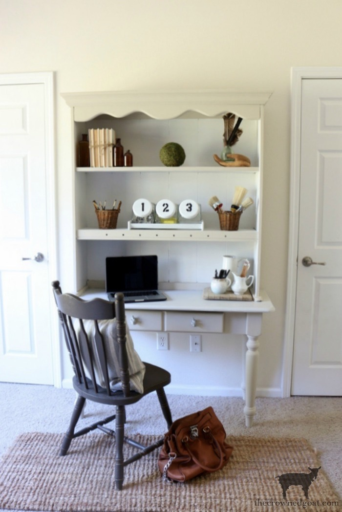 French-Country-Desk-Makeover-The-Crowned-Goat-6 French Country Desk Makeover Decorating DIY One_Room_Challenge Painted Furniture