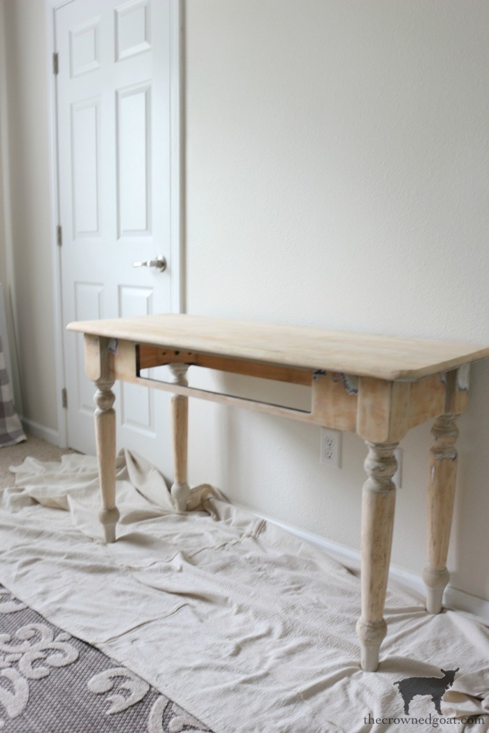 French-Country-Desk-Makeover-The-Crowned-Goat-9 French Country Desk Makeover Decorating DIY One_Room_Challenge Painted Furniture
