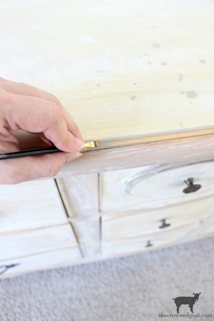 Gold-Accents-French-Country-Dresser-The-Crowned-Goat-10 Adding Gold Accents to a French Farmhouse Dresser Decorating One_Room_Challenge Painted Furniture