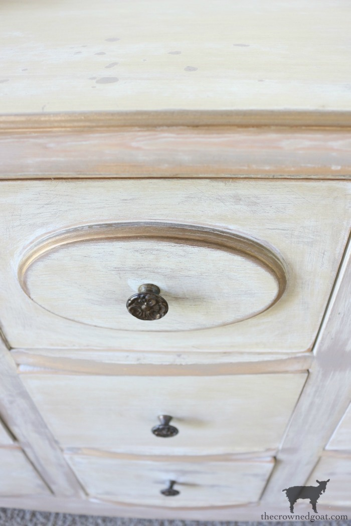 Gold-Accents-French-Country-Dresser-The-Crowned-Goat-16 Adding Gold Accents to a French Farmhouse Dresser Decorating One_Room_Challenge Painted Furniture