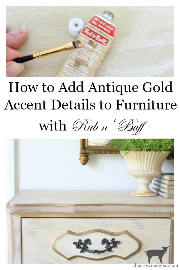 Gold-Accents-French-Country-Dresser-The-Crowned-Goat-19 Adding Gold Accents to a French Farmhouse Dresser Decorating One_Room_Challenge Painted Furniture