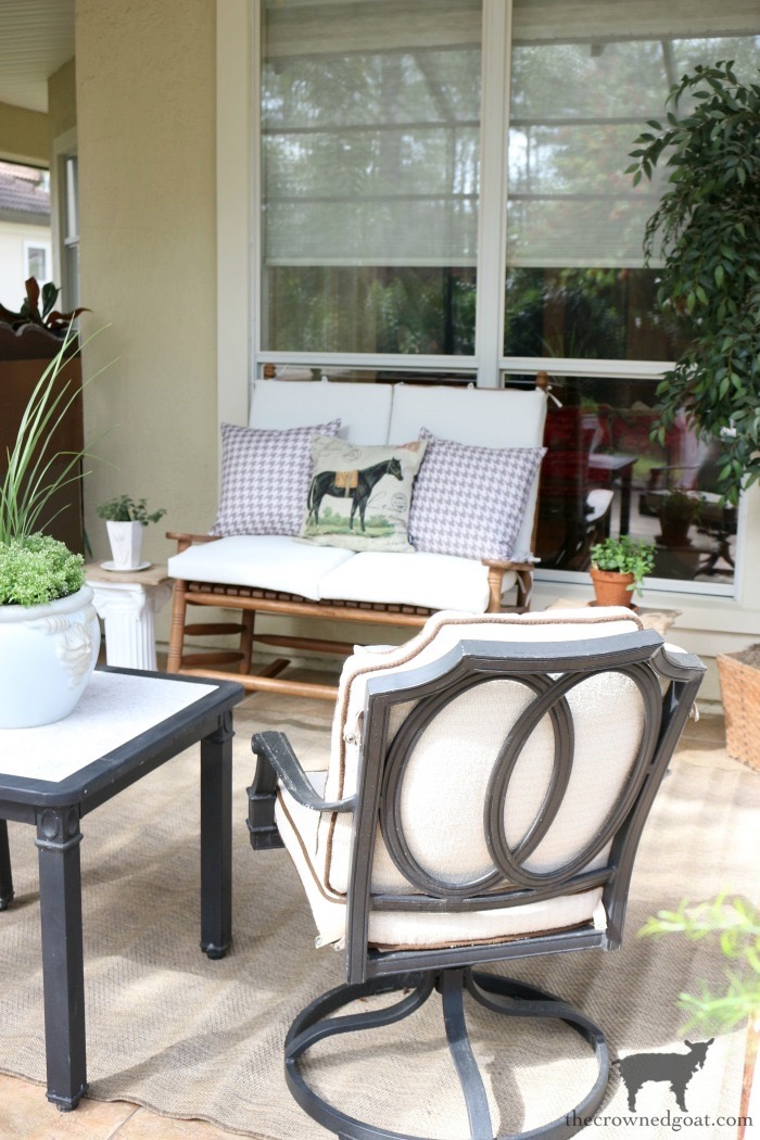 Make-Side-Tables-From-Columns-The-Crowned-Goat-16 Bliss Barracks Lanai Makeover: Side Tables from Columns Decorating DIY Painted Furniture