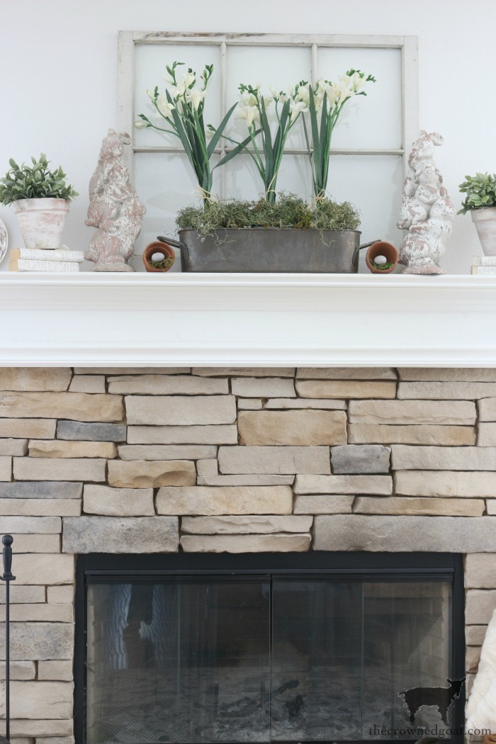 Spring-Mantel-Decorating-The-Crowned-Goat-10 Spring Mantel Décor Decorating Holidays Spring