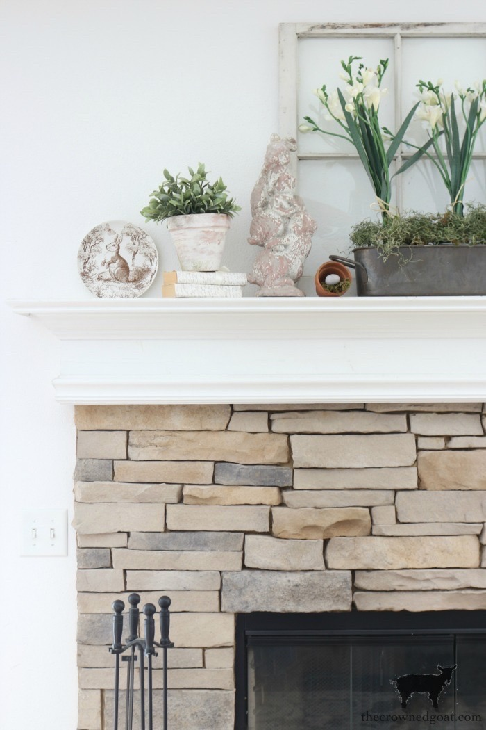 Spring-Mantel-Decorating-The-Crowned-Goat-13 Spring Mantel Décor Decorating Holidays Spring