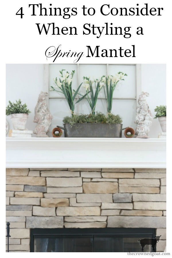 Spring-Mantel-Decorating-The-Crowned-Goat-14 Spring Mantel Décor Decorating Holidays Spring
