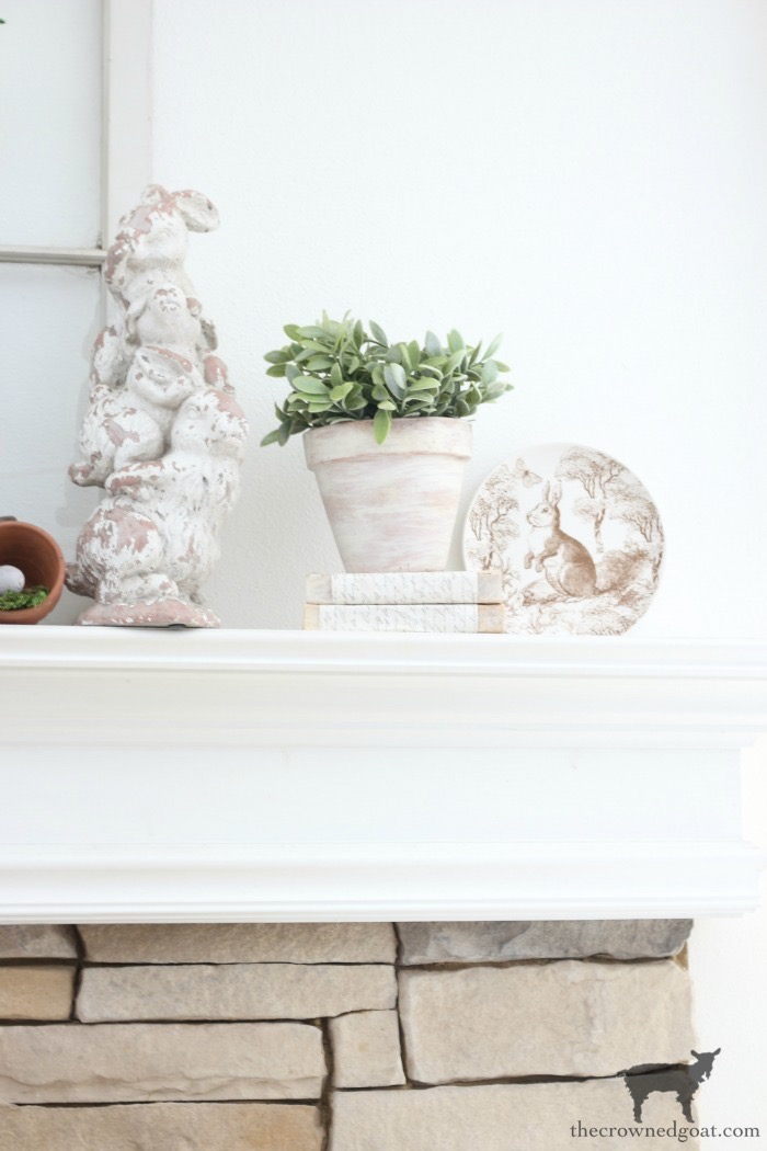 Spring-Mantel-Decorating-The-Crowned-Goat-6 Spring Mantel Décor Decorating Holidays Spring