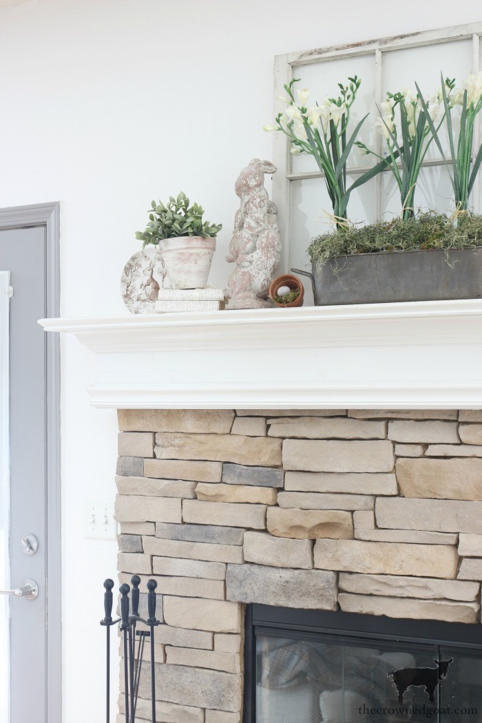 Spring-Mantel-Decorating-The-Crowned-Goat-9 Spring Mantel Décor Decorating Holidays Spring