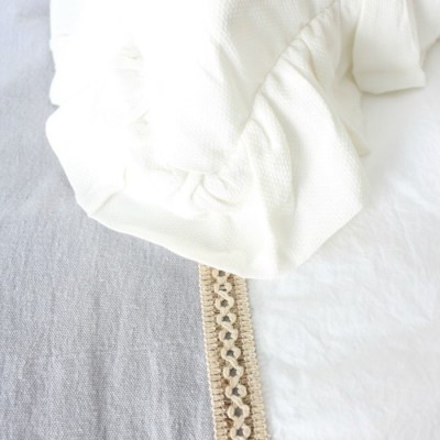 French Linen Inspired Bed Scarf