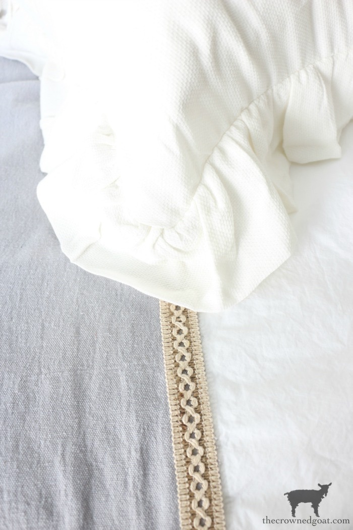 DIY-French-Linen-Bed-Scarf-The-Crowned-Goat-12 French Linen Inspired Bed Scarf Decorating DIY