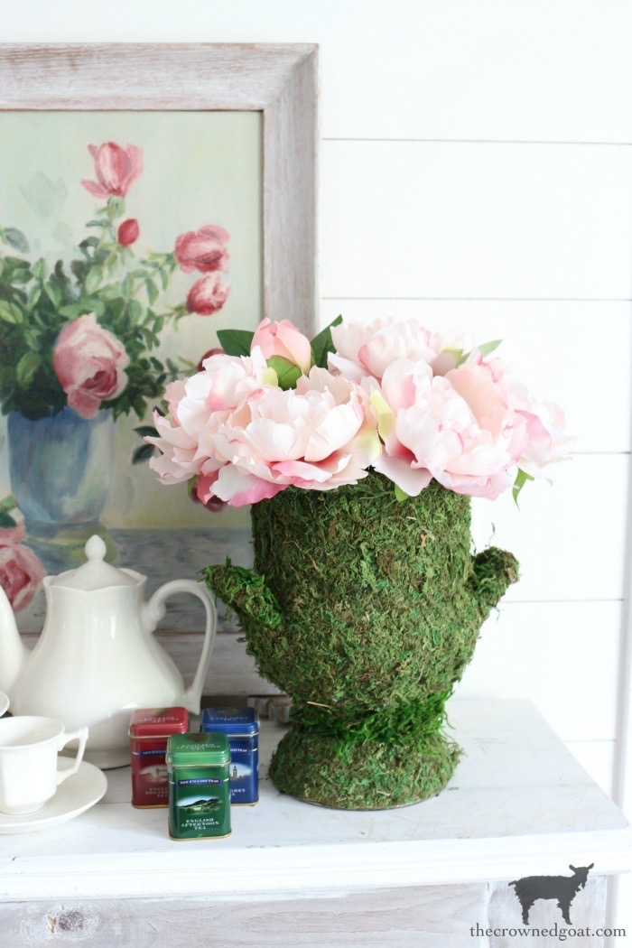 DIY-Moss-Covered-Urn-The-Crowned-Goat-2 DIY Moss Covered Urn & Spring Tea Party Hop Decorating DIY Spring