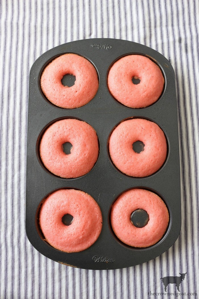 4th-of-July-Strawberry-Donuts-The-Crowned-Goat-9 Strawberry Cake Donuts with Buttercream Icing Baking DIY Holidays Summer