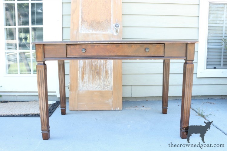 Home-Office-Desk-Makeover-The-Crowned-Goat-4 Home Office Desk Makeover Decorating DIY Painted Furniture