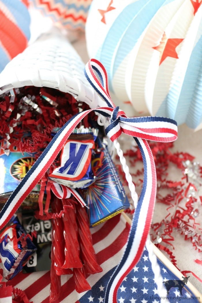 Patriotic-Party-Cones-The-Crowned-Goat-1 Quick & Easy Patriotic Party Cones Crafts Decorating Holidays Summer