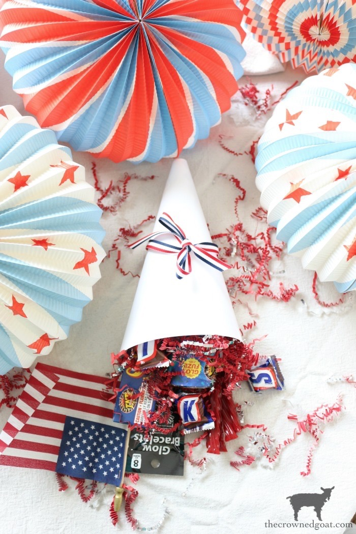 Patriotic-Party-Cones-The-Crowned-Goat-12 Quick & Easy Patriotic Party Cones Crafts Decorating Holidays Summer