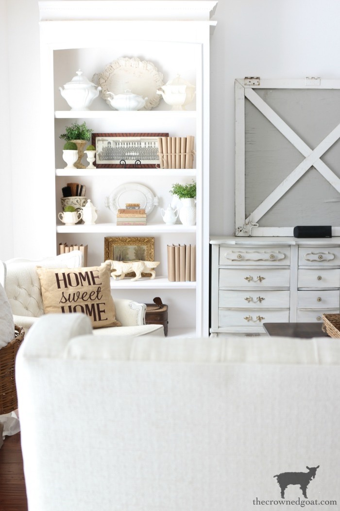 Turn-a-Display-Cabinet-Into-a-Bookcase-The-Crowned-Goat-4 How to Turn a Display Case into a Bookcase Decorating DIY