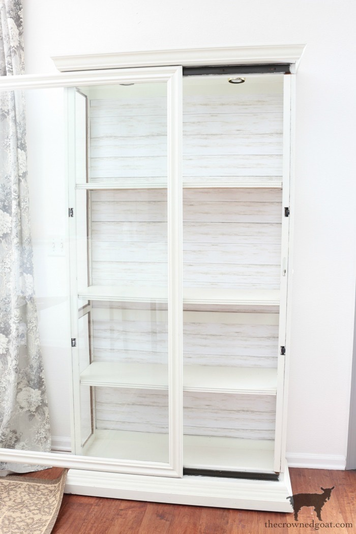 Turn-a-Display-Cabinet-Into-a-Bookcase-The-Crowned-Goat-9 How to Turn a Display Case into a Bookcase Decorating DIY