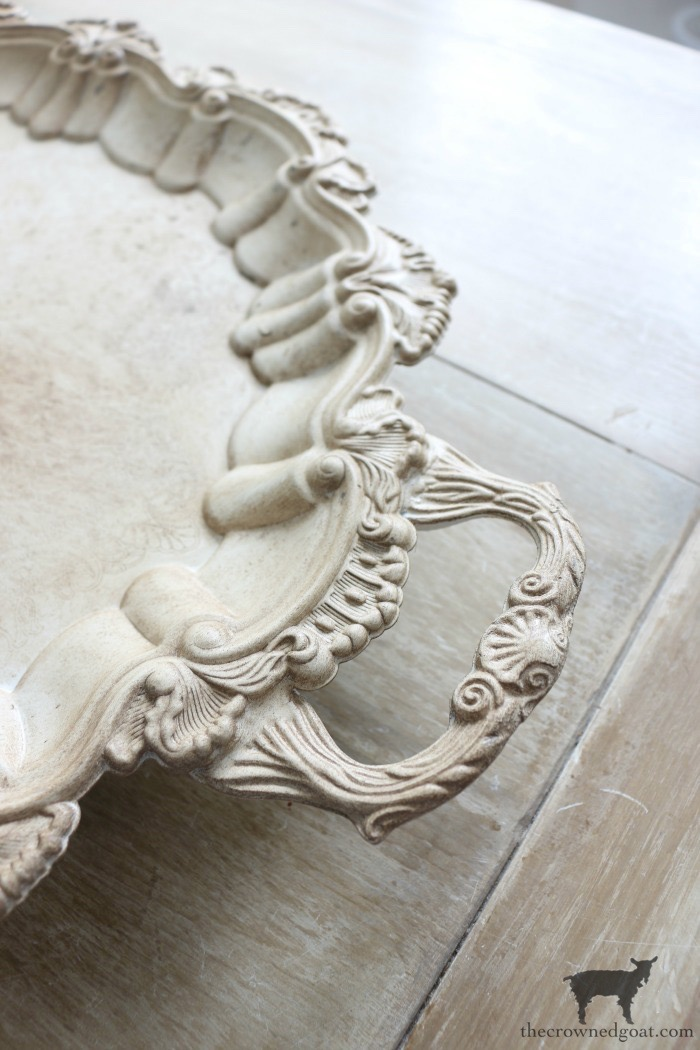 How-to-Paint-and-Age-Silver-Plate-Serving-Tray-The-Crowned-Goat-9 Easily Paint and Age a Silver Serving Tray Crafts Decorating DIY