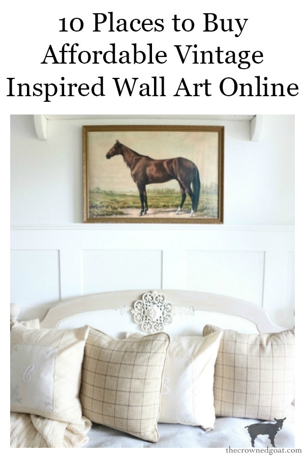 Places-to-buy-vintage-inspired-wall-art-online-The-Crowned-Goat-10 Places to Buy Affordable Vintage Inspired Art Online Decorating DIY