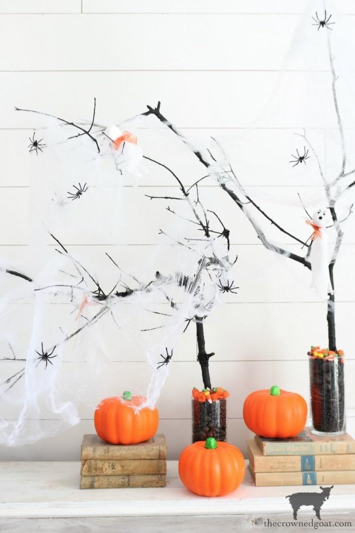 DIY-Halloween-Tree-The-Crowned-Goat-3 DIY Halloween Trees Crafts Fall Holidays