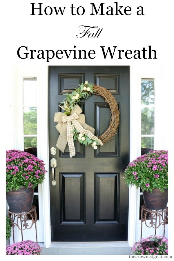 Fall-Grapevine-Wreath-The-Crowned-Goat-17 A Fall Grapevine Wreath for Beginners Crafts Decorating Fall Holidays