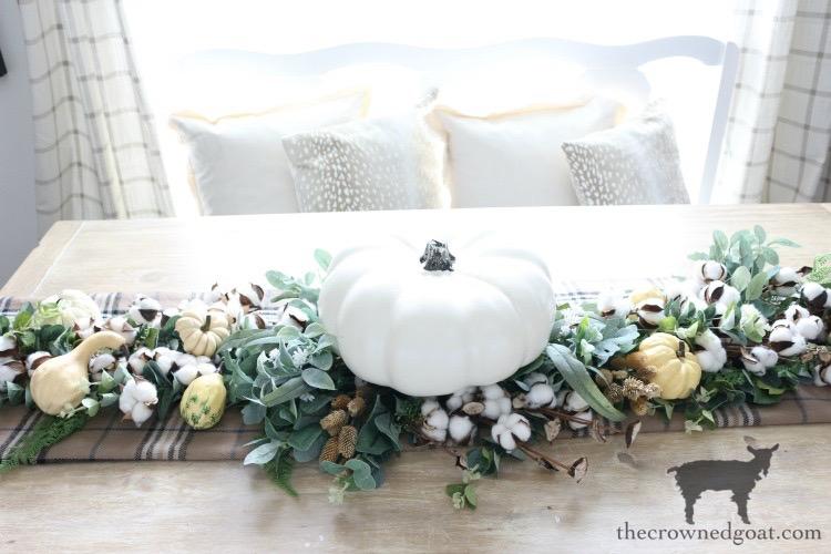 DIY-Greenery-Table-Runner-The-Crowned-Goat-16 DIY Greenery Table Runner Decorating DIY Fall Holidays