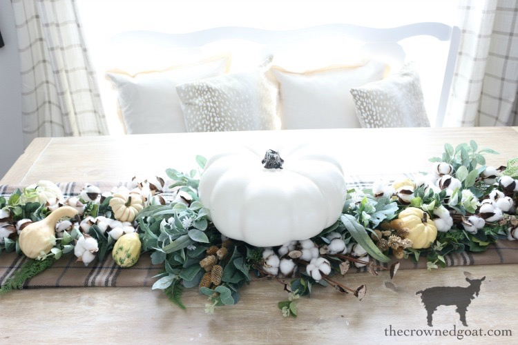 DIY-Greenery-Table-Runner-The-Crowned-Goat-16 DIY Greenery Table Runner Decorating DIY Fall Holidays
