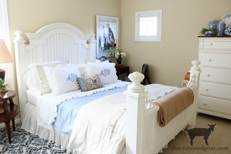 Blue-and-White-Guest-Bedroom-Refresh-The-Crowned-Goat-19 Blue and White Guest Bedroom Refresh Bliss Barracks Decorating DIY