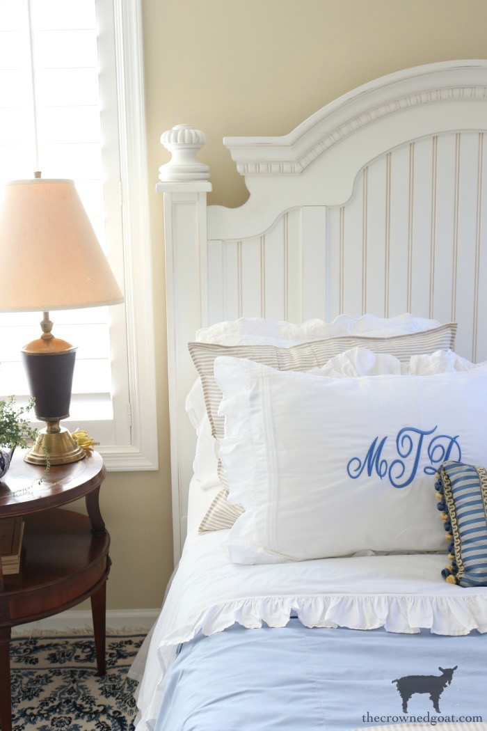 Blue-and-White-Guest-Bedroom-Refresh-The-Crowned-Goat-2 Blue and White Guest Bedroom Refresh Bliss Barracks Decorating DIY