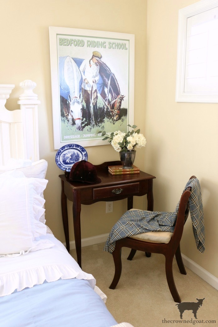Blue-and-White-Guest-Bedroom-Refresh-The-Crowned-Goat-8 Blue and White Guest Bedroom Refresh Bliss Barracks Decorating DIY