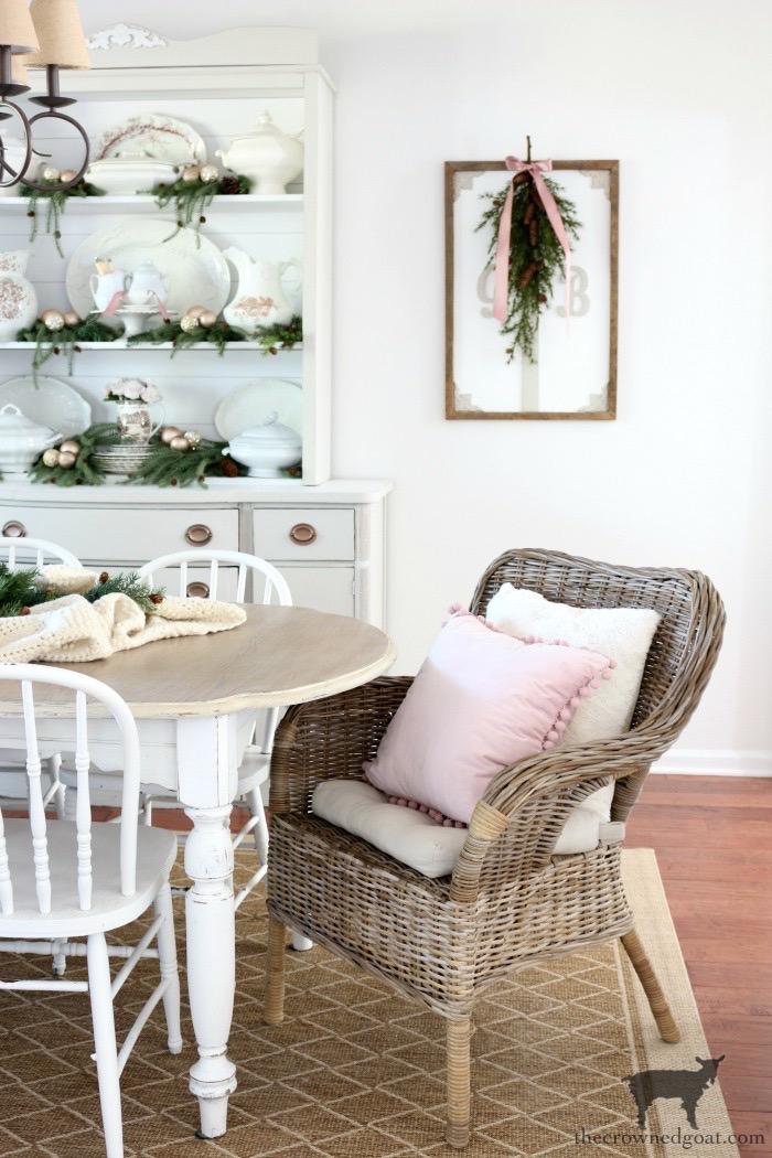 Soft-Romantic-Farmhouse-Christmas-Dining-Room-The-Crowned-Goat-12 Soft & Romantic Farmhouse Christmas Dining Room Christmas Holidays