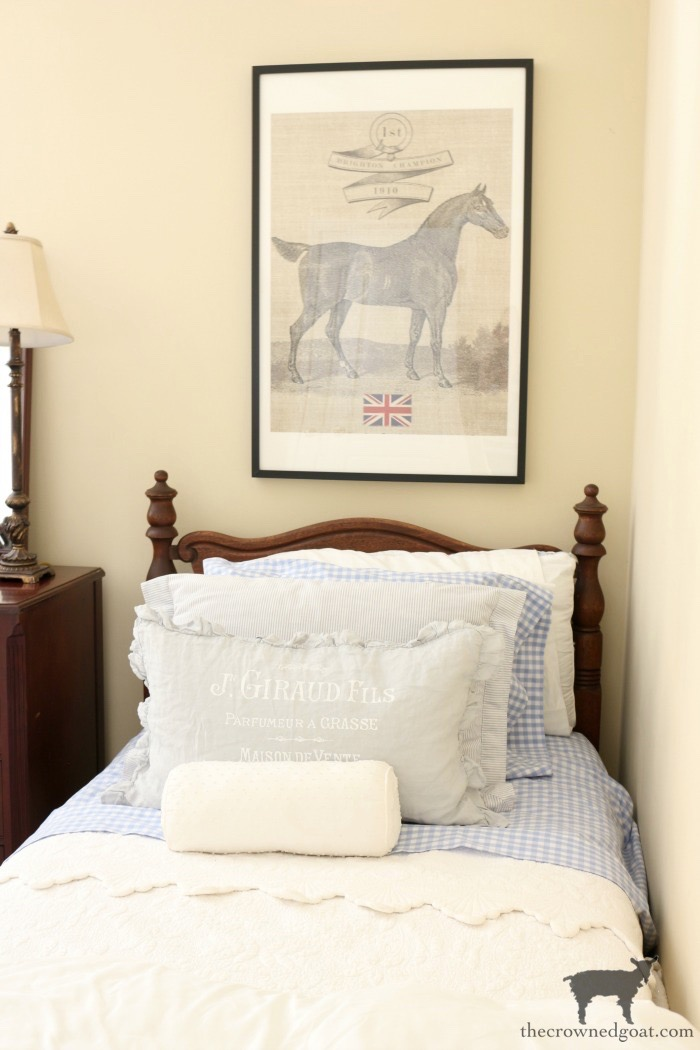 Blue-and-White-Twin-Bedroom-Refresh-The-Crowned-Goat-6 Blue and White Twin Bedroom Refresh Bliss Barracks Decorating