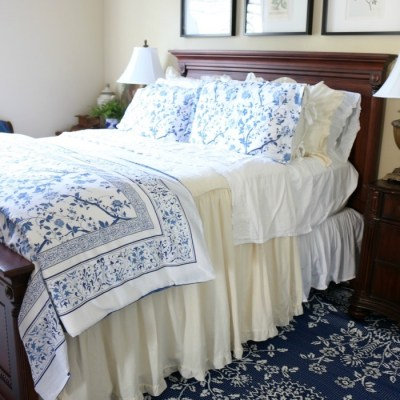 Blue and White Bedroom Refresh