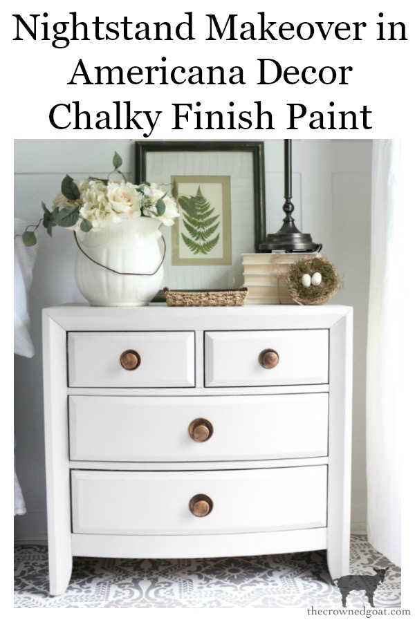 Americana-Chalky-Paint-Nightstand-in-Primitive-The-Crowned-Goat-18 Simple Nightstand Makeover in Primitive Decorating DIY Painted Furniture