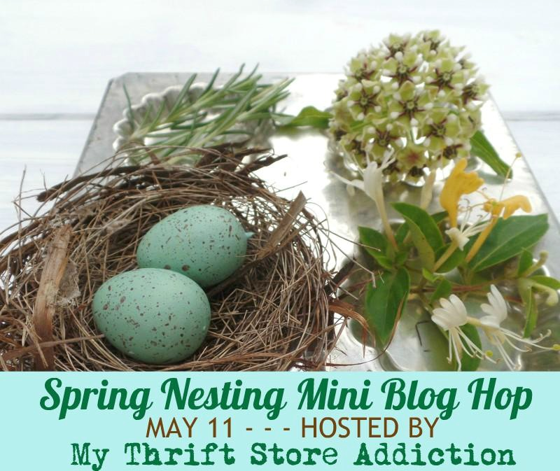 Spring-Nesting-Blog-Hop-Graphic Silhouette Cross Stitch on Stretched Canvas Crafts Decorating DIY