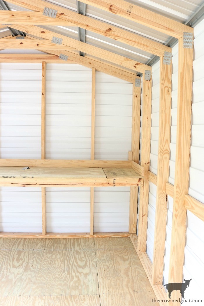 Metal-Shed-Makeover-Plans-The-Crowned-Goat-4 Outdoor Metal Shed Makeover Update DIY