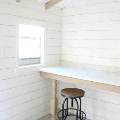 A Budget Friendly Shed Workstation
