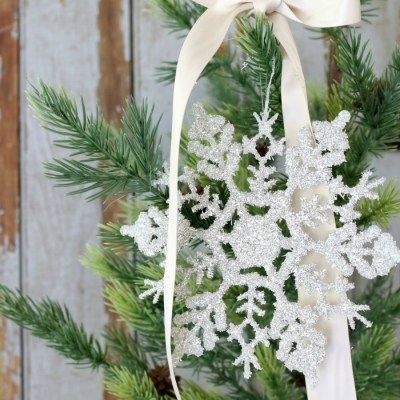 Glass Glitter Snowflake Ornaments