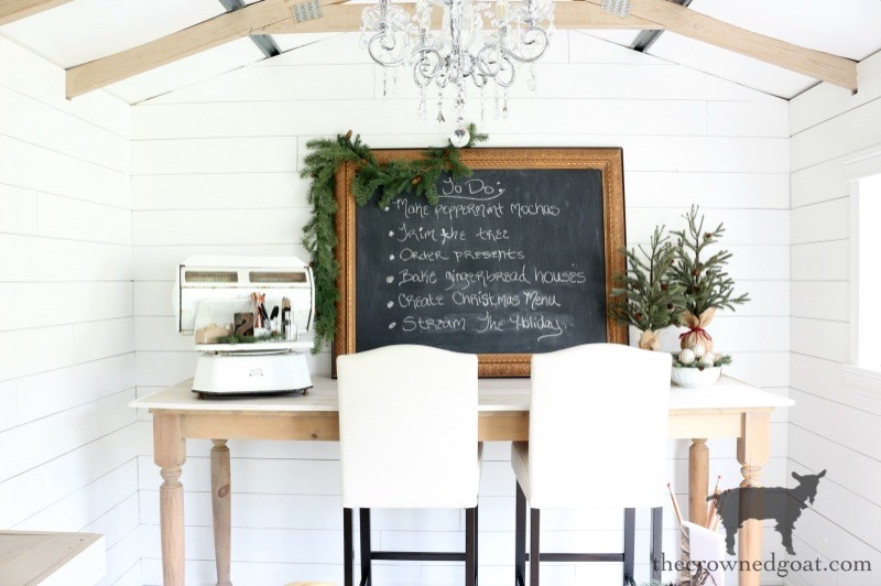 One-Room-Challenge-Budget-Friendly-Shed-Makeover-The-Crowned-Goat-5 Effortless Christmas Home Tour Christmas Holidays