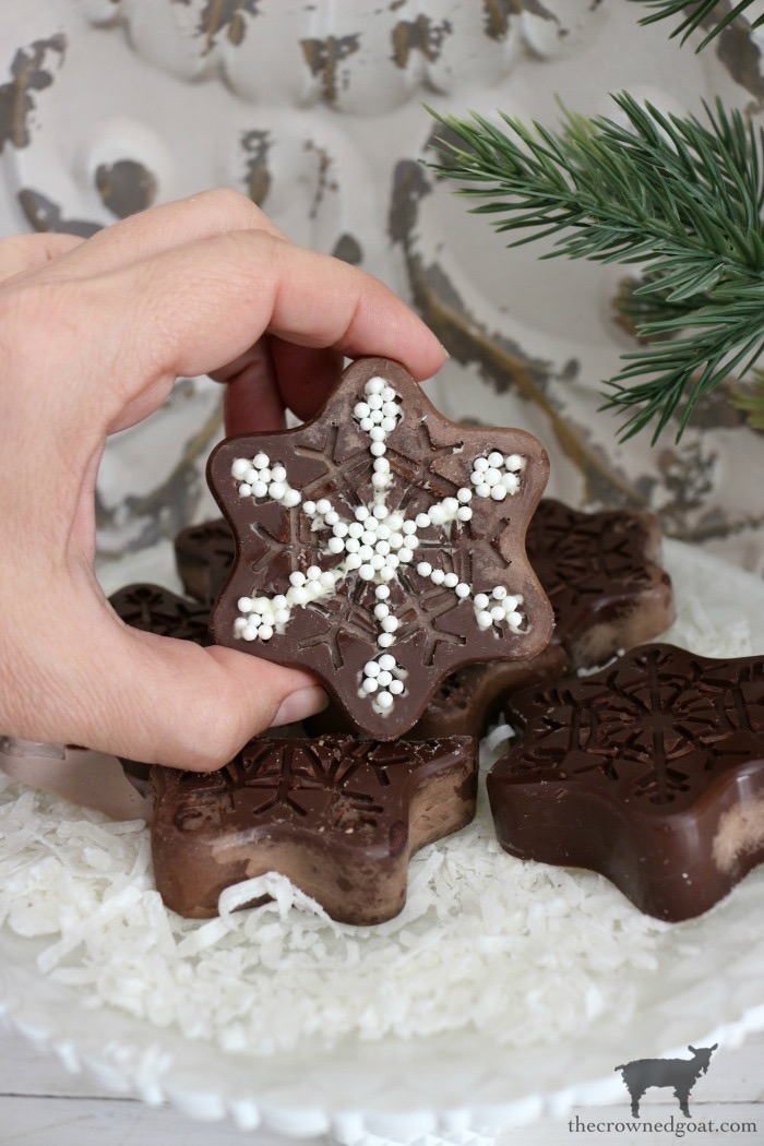 Chocolate-Covered-Oreo-Snowflake-Cookies-The-Crowned-Goat-16 Chocolate Covered Oreo Snowflake Cookies Baking Christmas Holidays