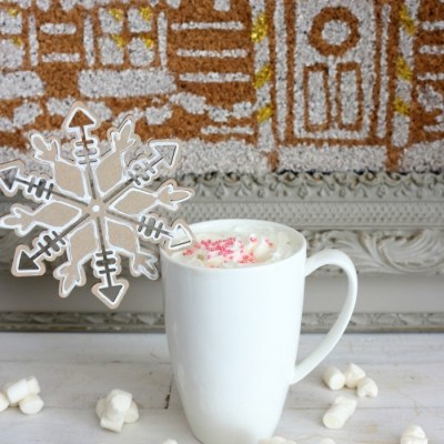 DIY Gingerbread Snowflake Ornaments