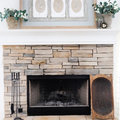 DIY French Country Mantel Art