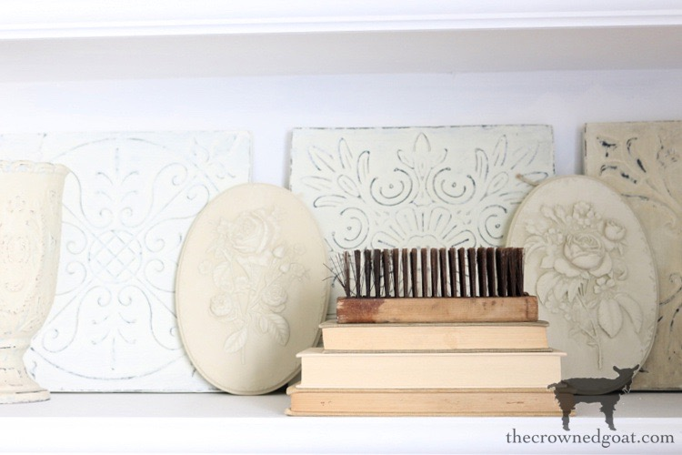 DIY-Plaster-Flower-Plaque-The-Crowned-Goat-8 DIY Plaster Flower Plaque Crafts Decorating DIY